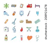 health and medicine icons. | Shutterstock .eps vector #208921678