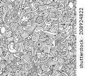 cartoon vector doodles hand...   Shutterstock .eps vector #208924822