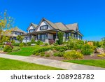 custom built luxury house with... | Shutterstock . vector #208928782