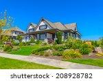 custom built luxury house with...   Shutterstock . vector #208928782