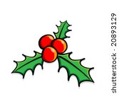 vector holly berries   Shutterstock .eps vector #20893129