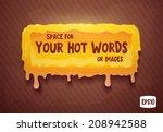 hot orange liquid seal.... | Shutterstock .eps vector #208942588
