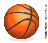 basketball ball isolated on a... | Shutterstock .eps vector #208946818