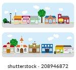 village main street... | Shutterstock .eps vector #208946872