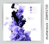 vector abstract cloud. ink... | Shutterstock .eps vector #208951735