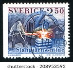 sweden   circa 1991  stamp... | Shutterstock . vector #208953592