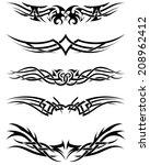 set tribal tattoos. eps 10... | Shutterstock .eps vector #208962412