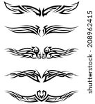 set tribal tattoos. eps 10... | Shutterstock .eps vector #208962415