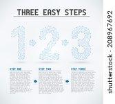 three easy steps   high detail... | Shutterstock .eps vector #208967692