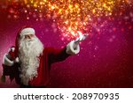 santa claus with gift bag... | Shutterstock . vector #208970935
