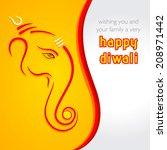 creative happy Diwali greeting card background vector - stock vector