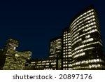 office buildings at night.... | Shutterstock . vector #20897176