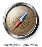 steel detailed compass isolated ... | Shutterstock .eps vector #208979656