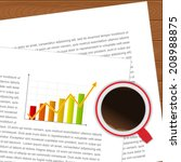 document and coffee cup ... | Shutterstock .eps vector #208988875