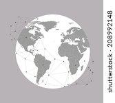 world globe vector illustration ... | Shutterstock .eps vector #208992148