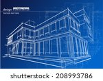abstract architecture | Shutterstock .eps vector #208993786