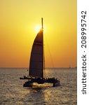 an image of sunset cruise | Shutterstock . vector #208995742