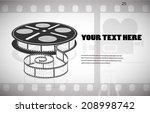 cine film in the frame vector...   Shutterstock .eps vector #208998742