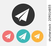 paper airplane flat icons | Shutterstock .eps vector #209014855