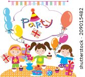 birthday party vector... | Shutterstock .eps vector #209015482