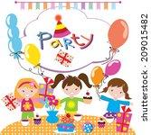 birthday party vector...   Shutterstock .eps vector #209015482
