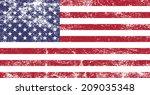 american grunge flag   vector | Shutterstock .eps vector #209035348