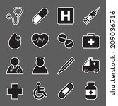 medical sticker icons | Shutterstock .eps vector #209036716