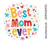 happy mothers day card design... | Shutterstock .eps vector #209036992