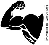 strong arm silhouette | Shutterstock .eps vector #209044396