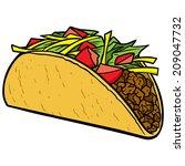 taco | Shutterstock .eps vector #209047732