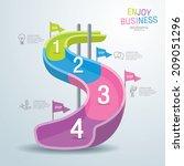 info graphics vector design... | Shutterstock .eps vector #209051296