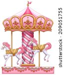 Illustration Of A Carousel Ride ...