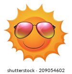 illustration of a sun with... | Shutterstock .eps vector #209054602
