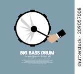 big bass drum music instrument... | Shutterstock .eps vector #209057008