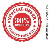 special offer 30 percent... | Shutterstock . vector #209064448