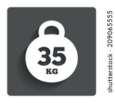 weight sign icon. 35 kilogram ...
