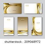 vector set of business cards or ... | Shutterstock .eps vector #209068972