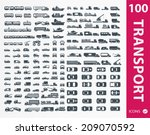 transportation icons   set of... | Shutterstock .eps vector #209070592