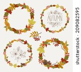 Vector Set Of Autumn Leaves...