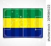 sleek design of a football... | Shutterstock .eps vector #209084122