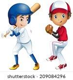 illustration of kids playing... | Shutterstock .eps vector #209084296