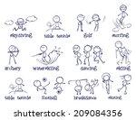 illustration of sport doodles...