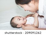 picture of happy asian mother... | Shutterstock . vector #209091262