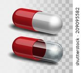 red and white pill and red and... | Shutterstock .eps vector #209095582