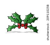 cartoon holly | Shutterstock . vector #209110258