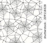 spider web seamless halloween... | Shutterstock .eps vector #209118328