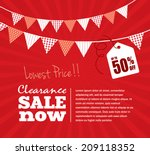 clearance sale poster | Shutterstock .eps vector #209118352