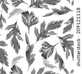 tropical leaves. seamless... | Shutterstock . vector #209121118