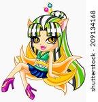freak girl   Shutterstock . vector #209134168