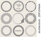 round vintage frame vector... | Shutterstock .eps vector #209134666